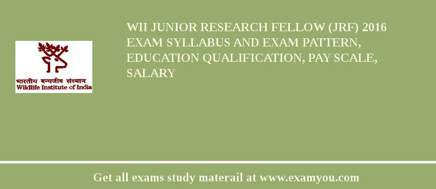 WII Junior Research Fellow (JRF) 2020 Exam Syllabus And Exam Pattern, Education Qualification, Pay scale, Salary