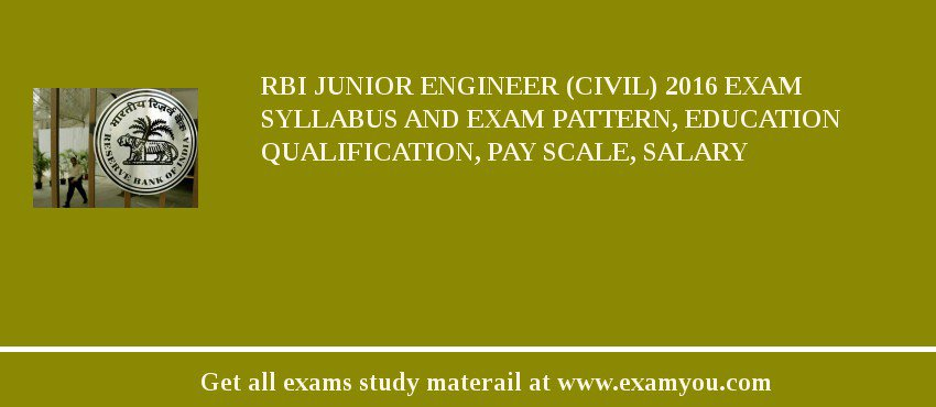 RBI Junior Engineer (Civil) 2019 Exam Syllabus And Exam Pattern, Education Qualification, Pay scale, Salary